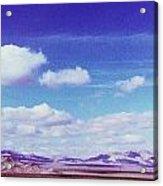 Mohave Desert Shadows Acrylic Print