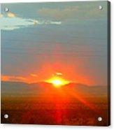 Mohave Sunset In Golden Valley Acrylic Print
