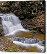 Mohican Falls In Spring Acrylic Print