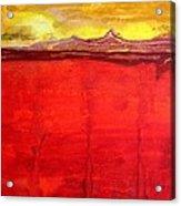 Mojave Dawn Original Painting Acrylic Print