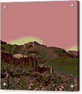 Mojave Desert In Mauve Acrylic Print by Sharon McLain