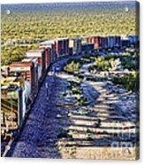 Mojave Desert Train By Diana Sainz Acrylic Print