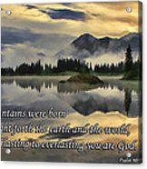 Molas Lake Sunrise With Scripture Acrylic Print