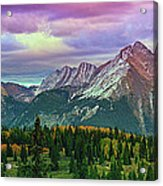 Molas Pass Sunset Panorama Acrylic Print