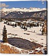 Molas Pass Winter Acrylic Print