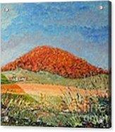 Mole Hill Flaunting Autumn- SOLD Acrylic Print