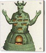 Moloch, The God Of The  Ammonites, An Acrylic Print