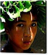 Molokai Keiki Kane Acrylic Print by James Temple