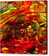 Molten Bubbles Acrylic Print by David Patterson