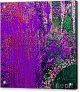Molten Earth Purple Acrylic Print