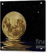 Molten Moon Acrylic Print
