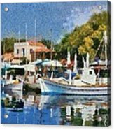 Molyvos Port Acrylic Print