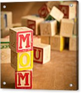 Mom Alphabet Blocks Acrylic Print