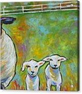 Mom And Kids Acrylic Print
