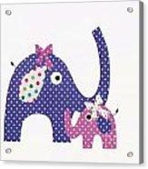Momma And Baby Elephants Acrylic Print
