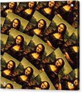 Mona Lisa Acrylic Print by Moshfegh Rakhsha