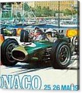 Monaco F1 Grand Prix 1968 Acrylic Print