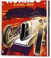 Monaco Grand Prix 1930 Acrylic Print