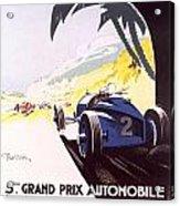 Monaco Grand Prix 1933 Acrylic Print