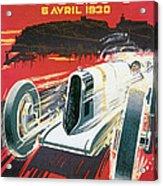Monaco Grand Prix Vintage Poster Acrylic Print