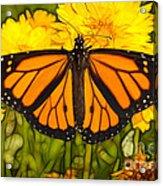 Monarch Batik Acrylic Print