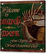 Monarch Tavern Acrylic Print by JQ Licensing