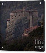 Monastary At Meteora  Greece   #9635 Acrylic Print