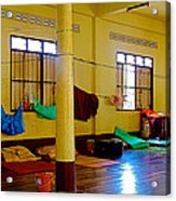 Monastery Dormitory In Tachilek-burma Acrylic Print