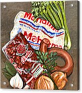 Monday's Tradition - Red Beans And Rice Acrylic Print