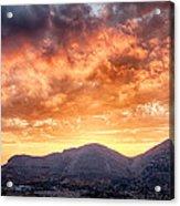 Mondello Sunset Acrylic Print by Viacheslav Savitskiy