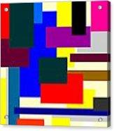 Mondrian Composition Acrylic Print