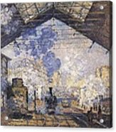 Monet, Claude 1840-1926. The Gare St Acrylic Print by Everett