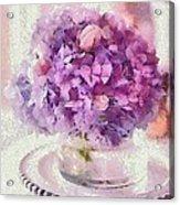 Monet Purple Pedestal Acrylic Print