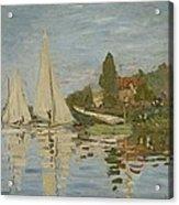Monet Regattas At Argenteuil 1872 Acrylic Print