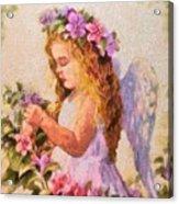 Monet Silked Angel Acrylic Print