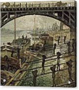 Monet The Coalmen 1875 Acrylic Print