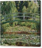 Monet Water Lily Pool, 1899 Acrylic Print