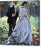 Monet's Bazille And Camille Acrylic Print