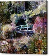 Monet's Bridge In Autumn Acrylic Print