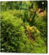 Monet's Garden Dreamscape Acrylic Print