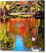 Monet's Garden In Hawaii 2 Acrylic Print