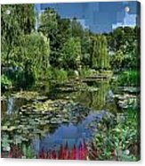 Monet's Lily Pond At Giverny Acrylic Print