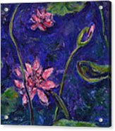 Monet's Lily Pond I Acrylic Print by Xueling Zou