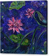 Monet's Lily Pond II Acrylic Print by Xueling Zou