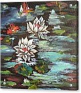 Monet's Pond With Lotus 1 Acrylic Print