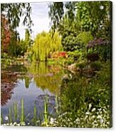 Monet's Water Garden 2 At Giverny Acrylic Print