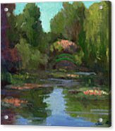 Monet's Water Lily Pond Acrylic Print