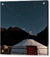 Mongolia By Starlight Acrylic Print