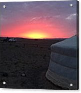 Mongolia Sunup Acrylic Print
