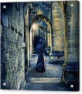 Monk In A Dark Corridor Acrylic Print